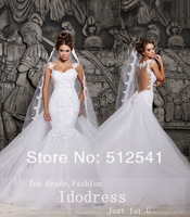 2014 Top Selling Organza Wedding Dresses Sweetheart Applique Sequin Sheer Backless Bridal Gown yk8R921