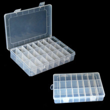 2014 New Arrival Hot Sale Storage Case Box Holder Container Pills Jewelry Nail Art Tips 24 Grids Free Shipping