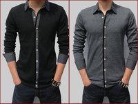 2014 new arrival Men's Cotton high quality fashion shirt, casual shirt men long sleeve,Male XXL. XXXXL,5XL shirts Free Shipping
