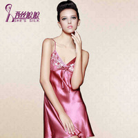 100% mulberry silk sexy  home design spayhetti strap pajamas 8010