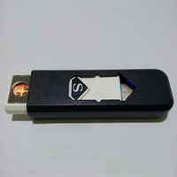 """Free shipping Black and white, """"U disk"""" personality ultrathin charging creative USB lighter electronic cigarette lighter"""