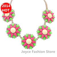 Min Order $10,New 2014 Vintage Fashion Statement Necklaces for Women,Bohemia sweet beads flowers necklaces,N90