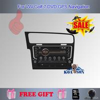 Koason Free Shipping For VW Golf 7 Car DVD Player  With GPS Navigation,Bluetooth ,DVD,music