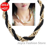 Min Order $10,New 2014 Vintage Fashion Statement Necklaces for Women,Bohemia sweet hit colors beads necklaces,N86