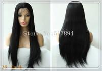 "120% Density!UPS Free! Brazilian Human Hair Glueless Full Lace Wigs #1B Off Black 10""14""20""Silk Straight Brown Lace A11"