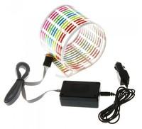 New arrival  90CM*25CM Colourful Flash Car Sticker Music Rhythm LED EL Light Lamp Sound Music Activated Equalizer