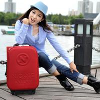 "Red box eva trolley luggage 18"" box small mini luggage travel bag"