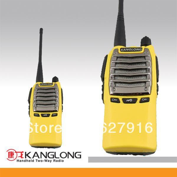 OEM! 136-174MHZ/400-470MHZ 8W yellow best walkie talkie radio(China (Mainland))