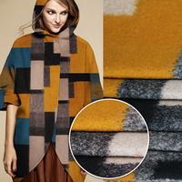 High quality Big Block Print Cashmere Fabric 150CM*100CM   Plaid Size 18CM*40CM / 23CM*21CM