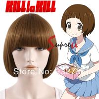 Kill LA Kill Mako Mankanshoku Short Straight Brown Anime Cosplay Wig
