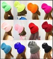 21 Colors! Free shipping 500PCS/Lot 2013 Neon Knitted Men's Winter Hat Autumn Sport Beanie UNISEX women's Warm Casual Cap