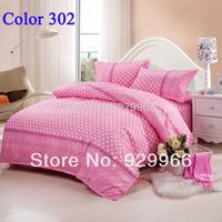 Promotion ! pink bedding set comfortor bed set bed linen cotton bed sheet bedclothes duvet cover set free shipping