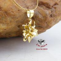 JHGOO80287 Classic 18K Gold Plated Flower pendants 2pcs/lot