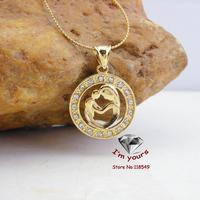 JHGOO70056 Classic 18K Gold Plated Mother love pendants 2pcs/lot