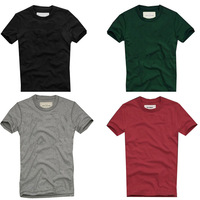 High Qualtiy Pure T-shirt/T-shirts For Men,Fashion Summer 2014 Man 100% Cotton Casual Short Sleeve Tshirt,Men's Simple T Shirt