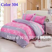 Never Miss ! pink bedding set comfortor bed linen cotton bedclothes bedspread duvet cover set bed set free shipping