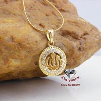 JHGOO10539 Classic 18K Gold Plated Muslim islamic Allah pendants 2pcs/lot