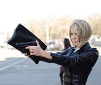 Men & Women Hot Gun Bag 3D Cartoon Bag Pistol Bag Vlieger Vandam Style Grenade Bag PU Leather SHD-150