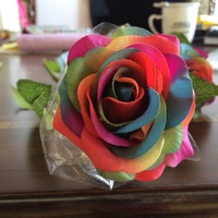 Full colour Fresh rose Artificial Flowers Real Touch Flowers, Home decorations for Wedding Party or Birthday (10pcs/Lot)
