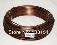 Bonsai aluminum wire wholesale brown color 1000g/lot (MS1545)