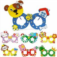 Eva diamond glasses birthday diy handmade three-dimensional 3d marouflage toy20x14.5cm 5pcs/lot free shipping