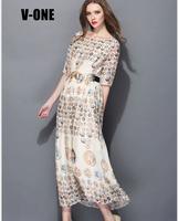 free shipping casual one-piece dress for women long beach dress brand new ancient Greek printed long skirt for women girls dress