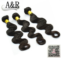unprocessed malaysian virgin hair extension human hair weave body wave 3pcs/ lot free shipping by DHL