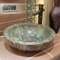 Ceramic art basin art basin fashion retro finishing ceramic basin handmade bathroom basin