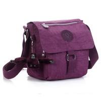 KP-046 Newly 2014 leopard printing nylon waterproof women messenger bag-free shipping