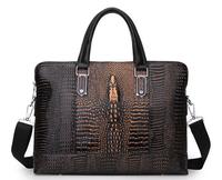New 2014 Business Cow Split leather Bags Men's Handbags Cowhide Bags Men Messenger Bags Travel Bag Fashion Retro Crocodile Lines