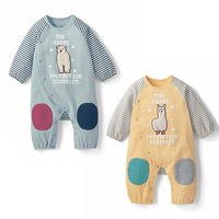 new 2014 spring summer baby cute bear boys rompers baby boy clothes free shipping newborn baby clothes