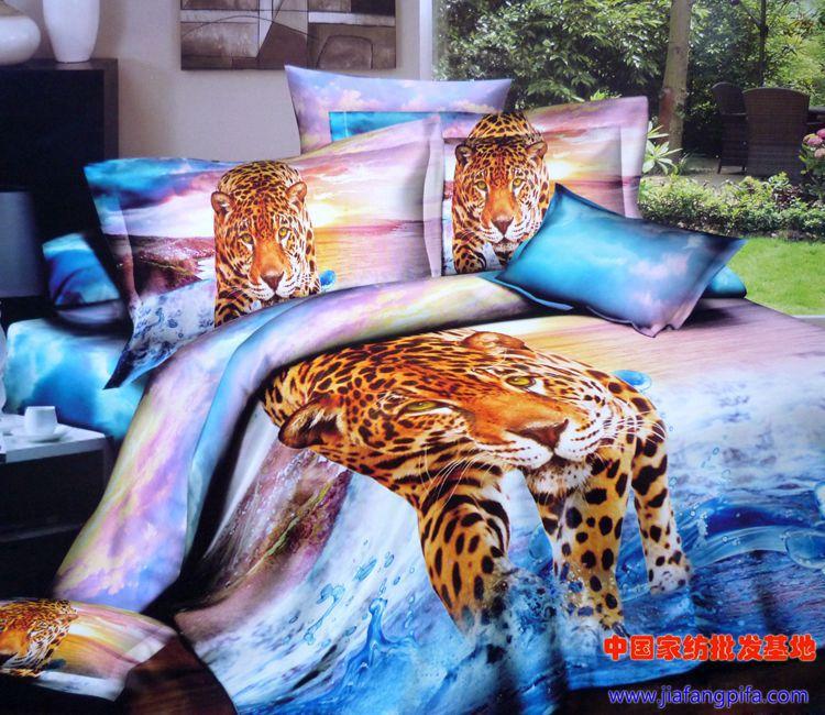 3d aqua blue purple leopard animal print bedding comforter set queen size bedspread quilt duvet - Cheetah print queen comforter set ...