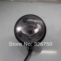 UNIVERSAL 12 VOLT Bulb Matte black HEADLIGHT