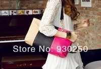 2014 New fashion Free shipping women  PU handbag LY-H042