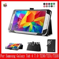 Folio Slim leather case For Samsung Galaxy Tab4 7.0 T230 / T231 /T235 leather case,Black