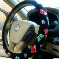 Flower summer slams four seasons steering wheel cover handle sets car direction set