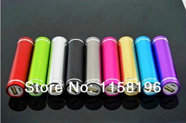 30pcs/lot Portable Travel Cylinder USB Power Bank 2600mAh Emergency Battery Pack Charger Can Make Logo 30pcs/lot Dropshipping(China (Mainland))