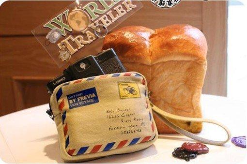 Free Shipping Sweet Card Bag,envelope design bag camera bag(China (Mainland))