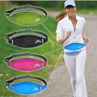 Hot 2014  Outdoor Sports Double Pouch Waist Belt Bag Packs waist bag  Sports Fitness Purse  Running  Jogging Wallet