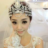 Luxury Princess Bridal Wedding Quality Pageant Crystal Tiara New Queen Big Large Rhinestone Prom Party Crown Tiara Free Ship