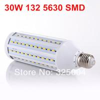 30W E27 132 5630 SMD 5280LM 360 degree LED Corn Bulb 220V Warm White / White Energy Efficient led Light Lamp free shipping