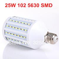25W E27 102 5630 SMD 4080LM 360 degree LED Corn Bulb 220V Warm White / White Energy Efficient led Light Lamp free shipping