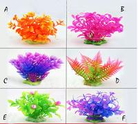 3 pcs 13cm Mix Design New Artificial Plastic Grass Aquarium Plants  Fish Tank Ornament Plant For Aquarium Decoration