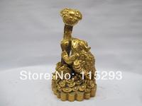 Lucky Chinese Copper Brass feng shui RU YI Yuan-bao Gathered wealth Frog Statue FREE Shipping