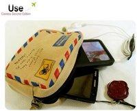 free shipping Korea Romantic envelope design camera bag handbag restoring pack passport case card wallet Valentine day gift love