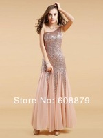 Free shipping 2014 Fashion beading Long party formal evening dress LC51302