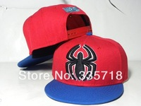 SpiderMan Kids Snapback hats 2014 new arrival children sports youth top quality baseball caps 8 styles hiphop cap Free Shipping