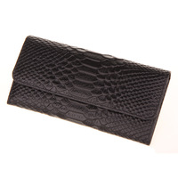 New Arrivals Fashion Free Shipping Crocodile Pattern First Layer 100% Genuine Leather Women Wallet Coin Purse Ladies Bags Female