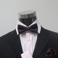 Navy blue red polka dot bow tie shirt marriage bow tie male bags of towels gown a-226 collar belt