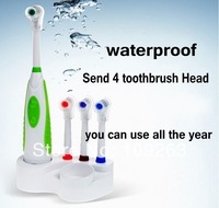 Professional Care Powered Electric sonic Toothbrush 4 heads Revolving waterproof Brush Dental Care Oral Hygiene
